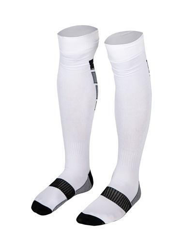Lescon La-2171 Beyaz Siyah Futbol Çorabı 40-45 Numara Beyaz
